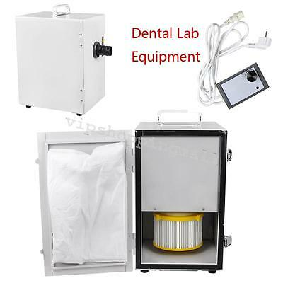 370W Lab Dental Laboratory Equipment Single-Row Dust Collector Vacuum Cleaner UK