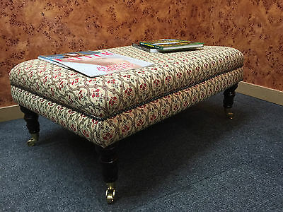 Large Luxurious Chesterfield Large Coffee Table / Footstool Tapestry Fabric