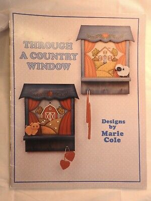 Through A Country Window - Marie Cole - folk art tole painting pattern