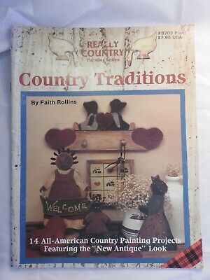 Really Country Series #1 Country Traditions folk art tole painting pattern #8203