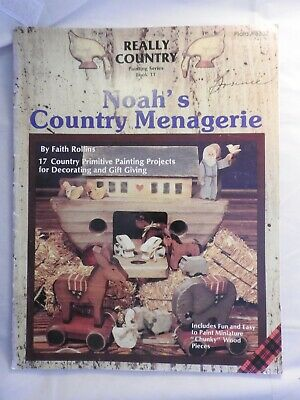 Really Country Series #11 Noah's Country Menagerie folk art tole painting  #8332