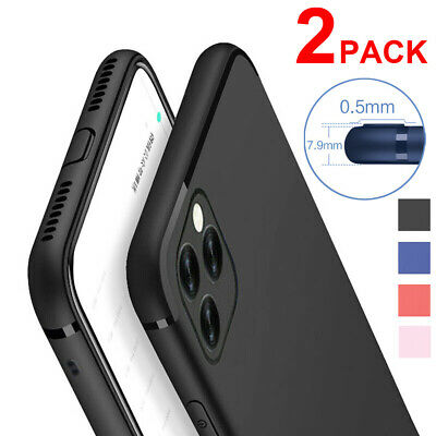 2Pack For iPhone 11 Pro XS Max X XR 8 7 Soft Silicone Rubber TPU Thin Case Cover