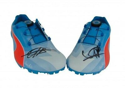 Usain Bolt Signed Puma Olympic Champion Running Spikes Shoes + *Photo Proof*