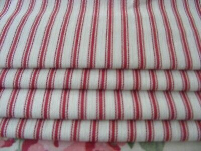 *Sale* Red And Cream Ticking Roman Blind Up To Max  75Cm X 90Cm