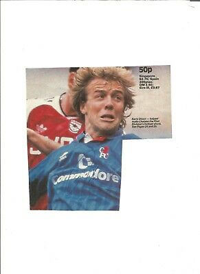 Kerry Dixon signed magazine piece mounted on A4 paper,  EL168