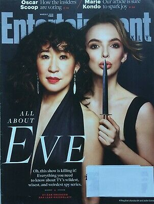 """ALL ABOUT EVE"" SANDRA OH & JODIE COMER Mar 2019 ENTERTAINMENT WEEKLY Magazine"
