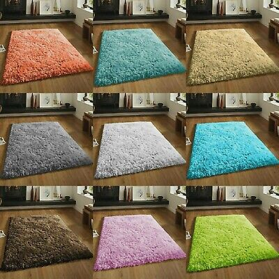 SMALL X EXTRA LARGE Thick Modern 5 cm High Pile Plain SOFT Non-Shed Shaggy Rugs