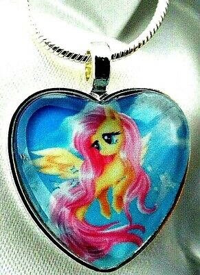 Flutter Shy My Little Pony 16 18 20 22 Inch Chain Necklace Gift Box Birthday
