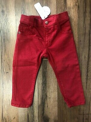 Gymboree Baby Toddler Red Pull On Skinny Jeans Boy/Girl NWT