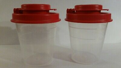 New Tupperware Tupper Mini Salt N Pepper Shakers!  Awesome For Travel!!