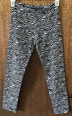 Copper Key Black/White Zebra Striped Leggings 10  (00074)