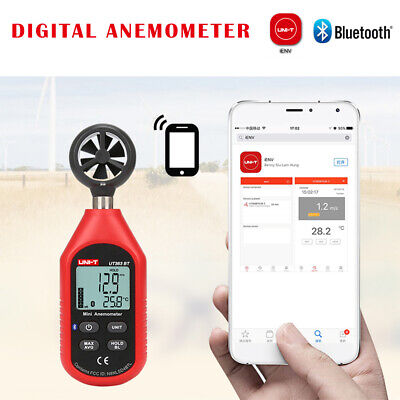 UNI-T UT363BT Bluetooth Digital LCD Thermometer Anemometer Temperature Air Speed
