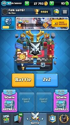 Clash Of Royale Account All Cards Legendary Cards