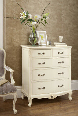 Steens White Baroque French Louis 3 Drawer Wide Chest