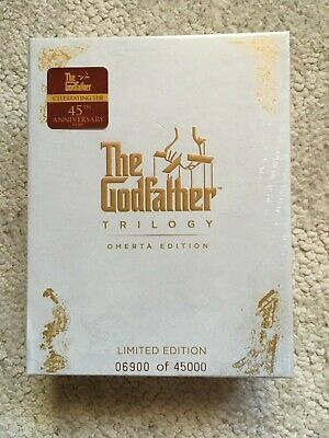 The GODFATHER Trilogy Omerta Limited Edition Blu-ray set NEW! #6900 of 45000