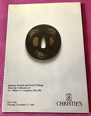 Auction Catalog Japanese Swords Fittings Dr Walter A Compton Part III 1992