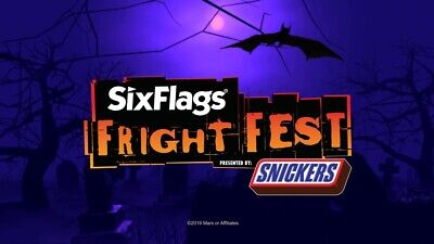SIX FLAGS GREAT ADVENTURE NJ ADULT TICKET FRIGHT FEST, VALID**Any day**THRU 11/3