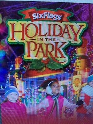 Six Flags Great Adventure Nj Adult Winter Ticket Valid 11/1 - 1/1 Come See Santa