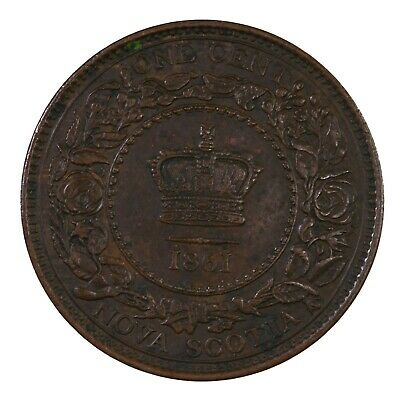 Raw 1861 Nova Scotia Canada 1C Ungraded Uncertified Canadian Large Cent Coin