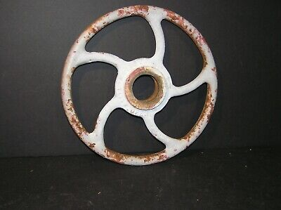 "Cast Iron 12"" Diameter Industrial Valve Wheel Handle Steampunk"