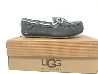 NEW! Kids UGG Australia Kids Ryder Jungle Moccasins #1005160 Grey 28T kk