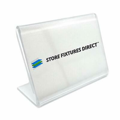 Standard Index Card Counter Top Sign Card Holder - Multiple Sizes Available
