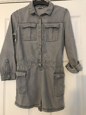 River Island Girls Long Sleeved Grey Playsuit Age 10