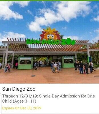 San Diego Zoo Child Admission Ticket fr Groupon - Exp 12/30/19