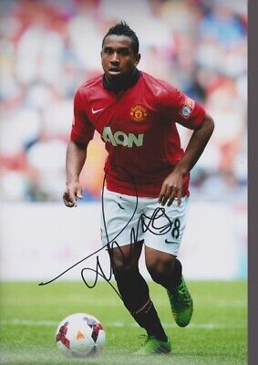ANDERSON Hand Signed MANCHESTER UNITED Autograph Photo - Authentic Real