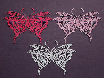 Butterfly Die Cuts x 8 - made from Paper - Scrapbooking Card Making Topper