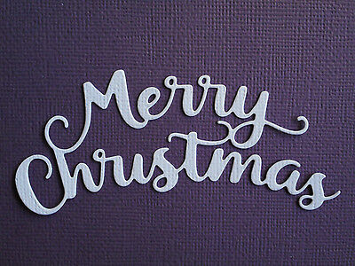 Merry Christmas Die Cuts x 8 - made from Paper - Scrapbooking Card Topper