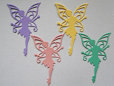 Fairy Die Cuts x 10 - made from Paper - Scrapbooking Card Making Topper
