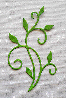 Leaf Flourish Die Cuts x 10 - made from Paper - Scrapbooking Card Making Topper
