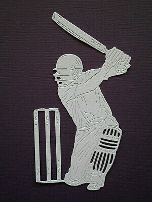 Cricketer Cricket Die Cuts x 8 - made from Paper - Scrapbooking Card Topper