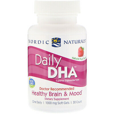 Nordic Naturals, Daily DHA, Natural Fruit Flavor, 1,000 mg, 30 Soft Gels