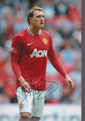 PHIL JONES Hand Signed MANCHESTER UNITED Autograph Photo - Authentic Real