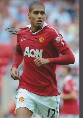 CHRIS SMALLING Hand Signed MANCHESTER UNITED Autograph Photo - Authentic Real