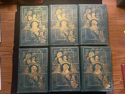 Antique Book The Works of Charles Dickens Six Volume Set Collier 1879
