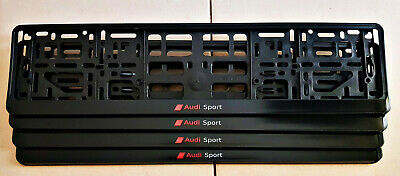 Audi Sport Number Plate Surrounds -  *Special Offer* (1 Pair) Small Text
