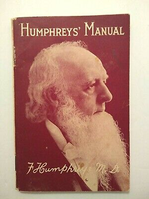 Vtg 1929 Humphreys Manual Pharmacy Disease Treatment Home Remedies Brochure Ads
