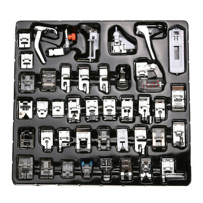 42 PCS Domestic Sewing Machine Presser Foot Feet Snap For Brother Singer Set