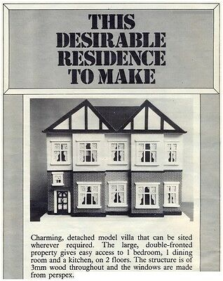 Dolls' House DIAGRAM Plans & Instructions (ONLY) - NOT FINISHED ITEM