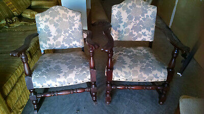 Lot of 2--Vintage Matching Rocking Chair and 2nd Chair