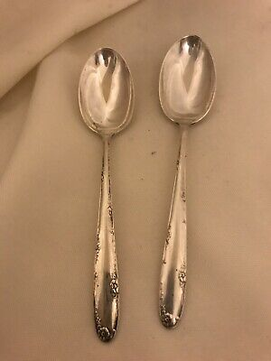 """TOWLE 2 Sterling Silver MADEIRA 5 7/8"""" Teaspoons No Monogram Excellent"""