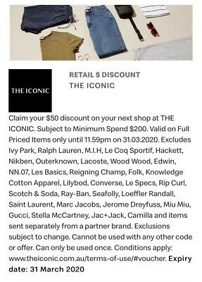THE ICONIC $50 Discount Voucher