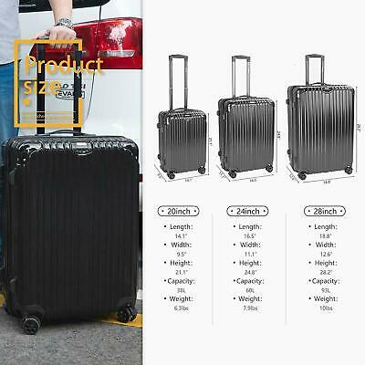 """Expandable Suitcases Lightweight 20"""" Luggage Set with Spinner Wheels TSA Lock"""