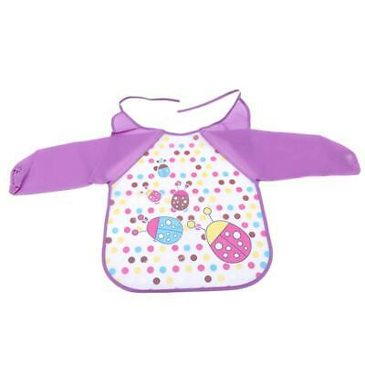 Children Baby Kids Toddler Waterproof Long Sleeve Art Smock Feeding Bib Apron JJ