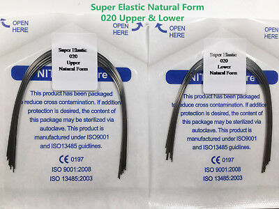 020 U/L Natural Dental Super Elastic Wires Round Orthodontic Arch Wire *20 Bags