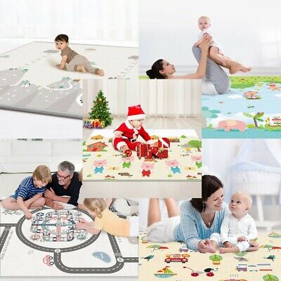 Baby Play Mat - Large Double Sides Non-Slip Waterproof Portable For Playroom Hot
