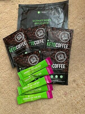 It Works! Bundle. KETO Coffee X 5, Greens On The Go X 5 + 1 Body Wrap Applicator
